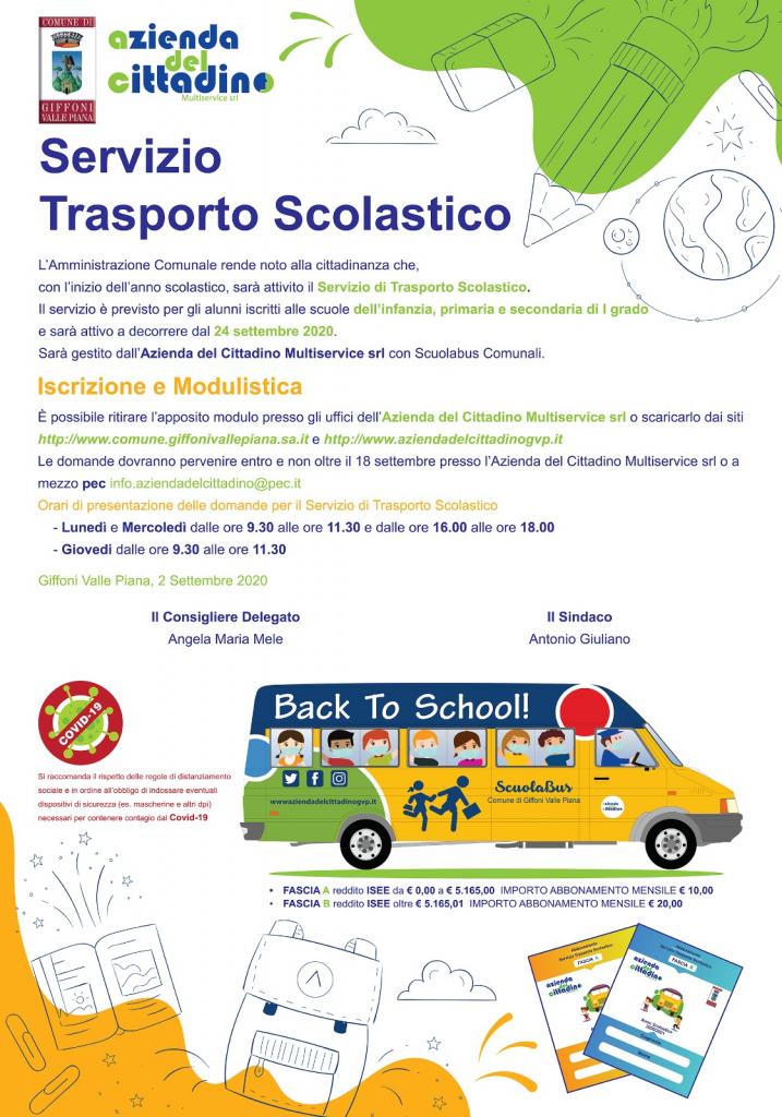 SERVIZIO DI TRASPORTO SCOLASTICO 2020/2021