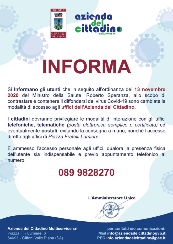 avviso_16_NOVEMBRE_2020_uffici